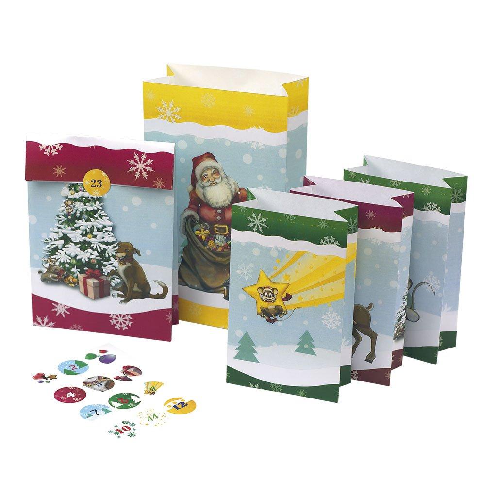 24 Adventstütchen für Kinder: zum Befüllen Kalender – Wandkalender, 1. Oktober 2015 Roth B0154CWN58 Weihnachten Adventskalender