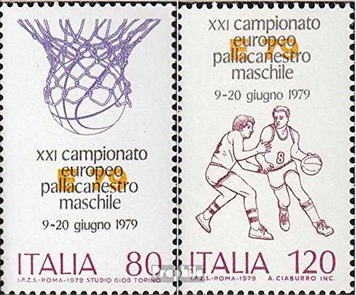 (Italy 1662-1663 (Complete.Issue.) 1979 Basketball-European Championship (Stamps for Collectors))