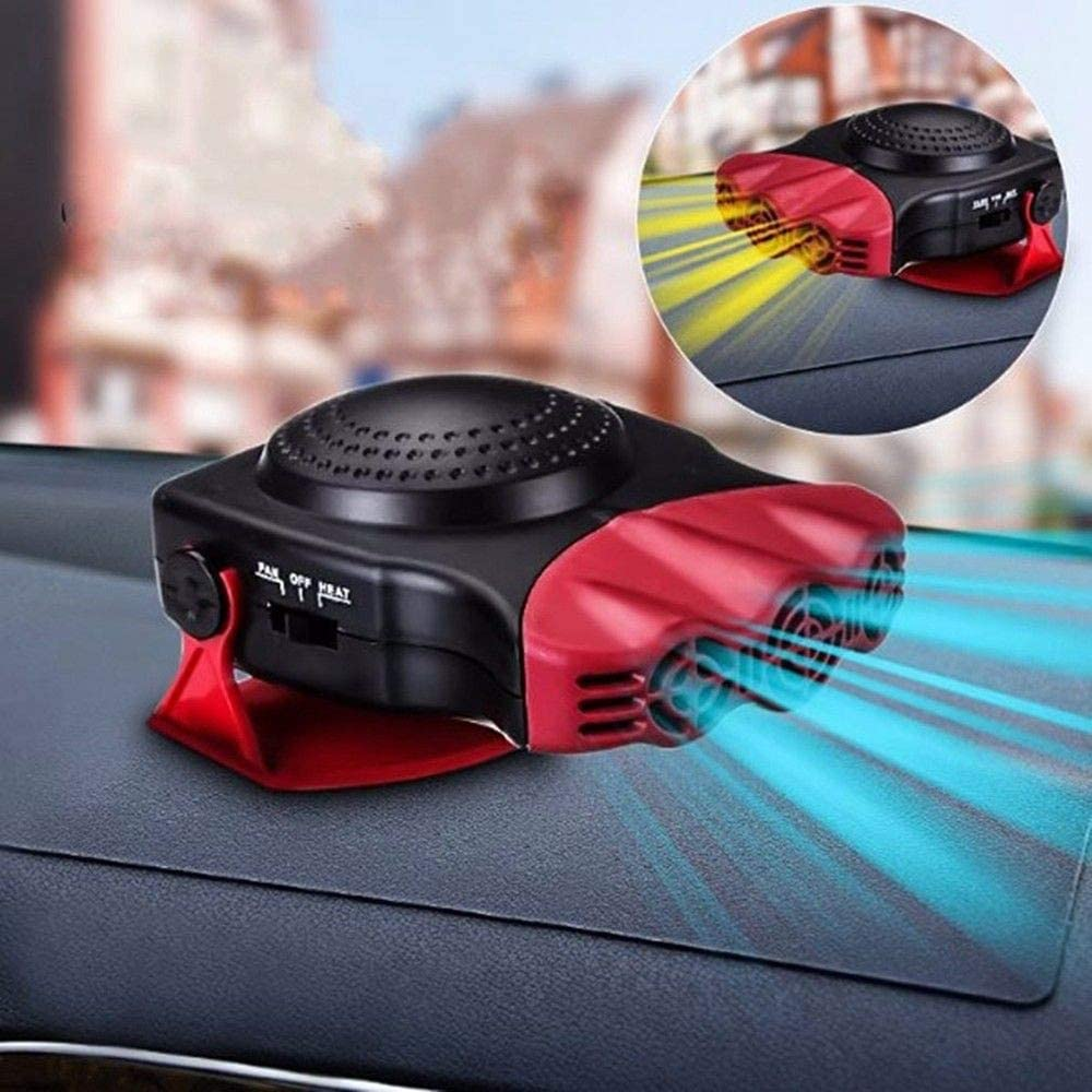 Car Heater - MASO 2 in 1 Portable 12V 150W High Power Fast Heating & Cooling Fan Defrost Defogger ,for Automobile Windscreen (Red)