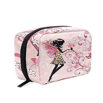 Bolsa de maquillaje con paraguas para niñas con flores ...