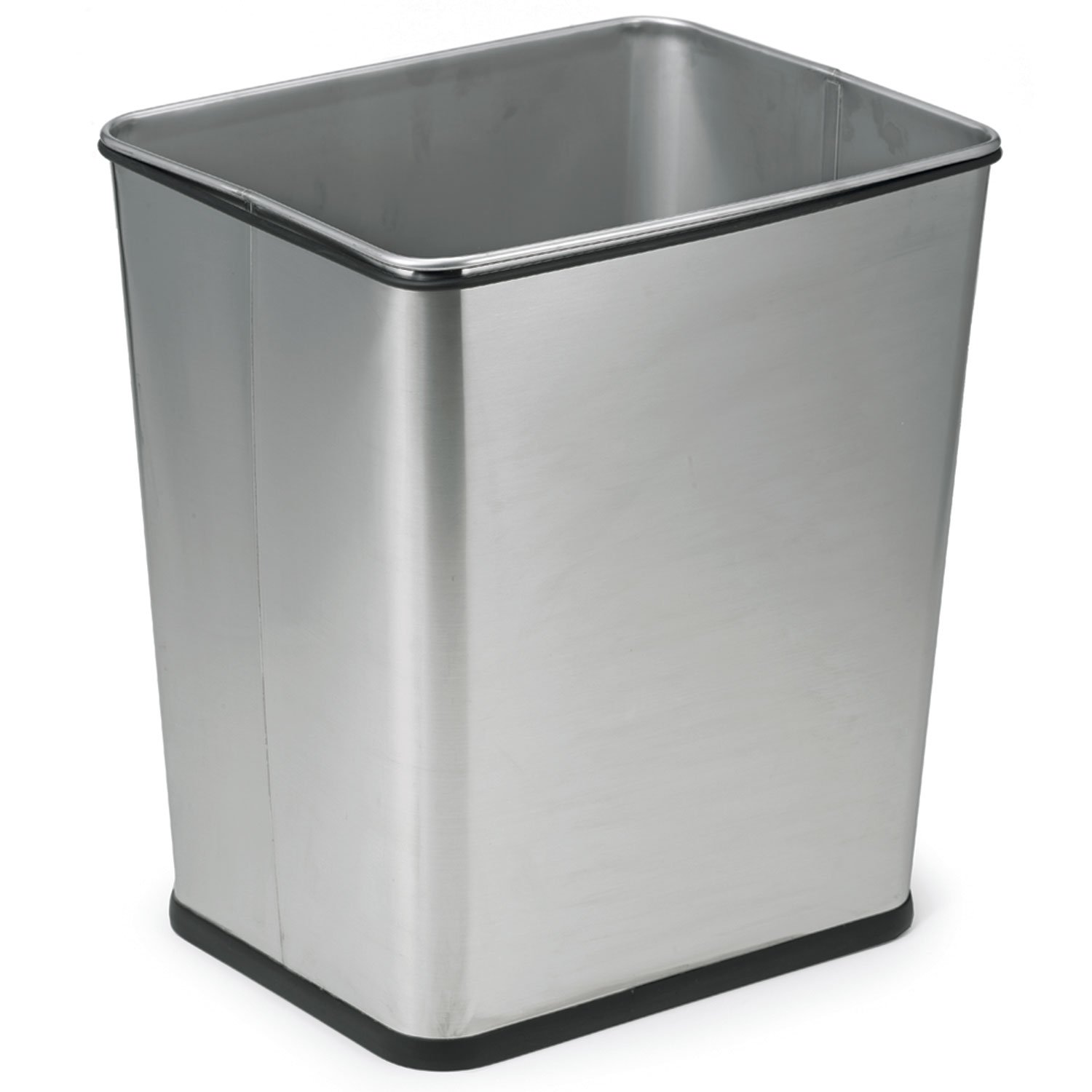 Polder Trash Can - 7 gallon and fits under the counter - Stylish Brushed Stainless Steel