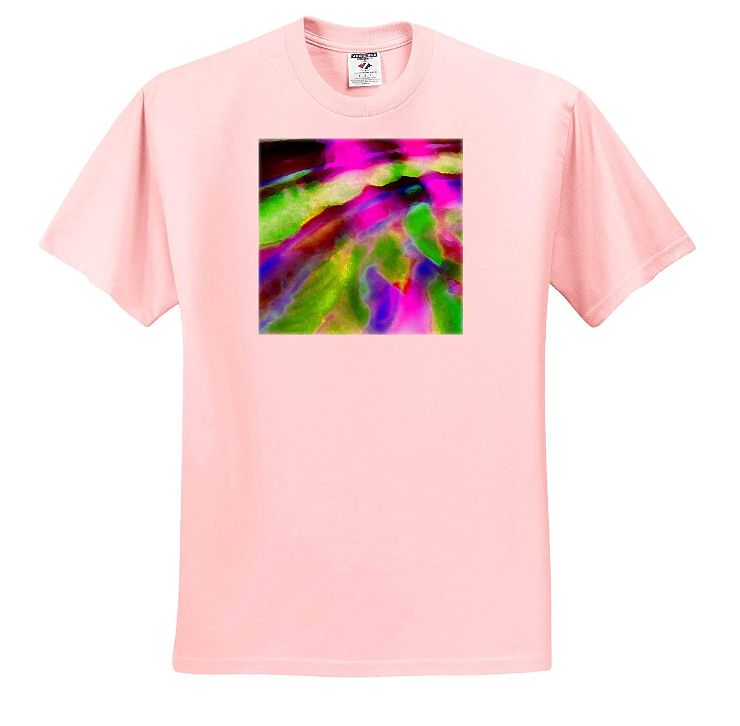 Dancing Light Art in Pink and Green with Purple ts/_317887 3dRose Jos Fauxtographee- Music Art Adult T-Shirt XL