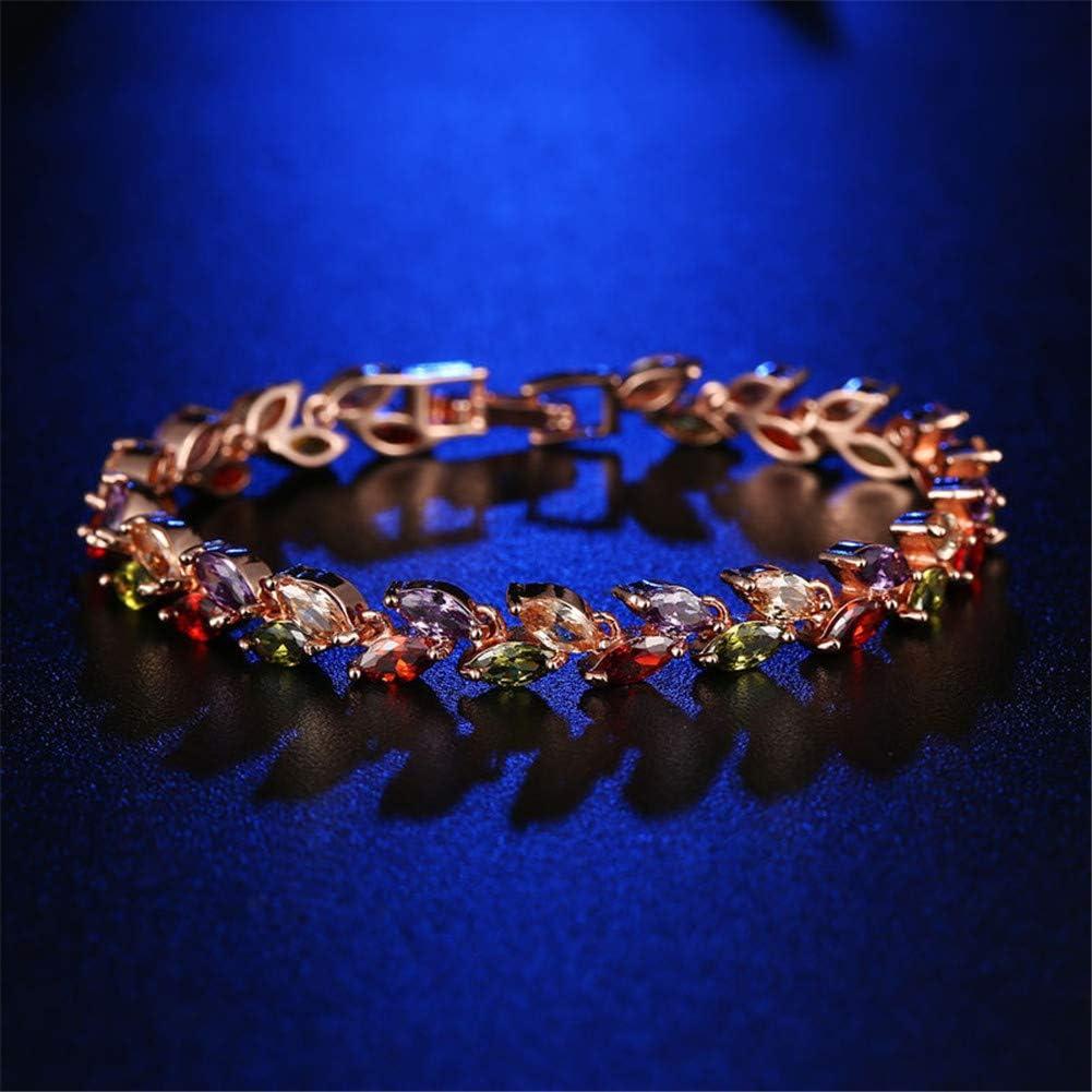 Women Fashion Roman Style Crystal Diamond Bangle Bracelets Elegant Charm Rhinestone Bracelets Gifts