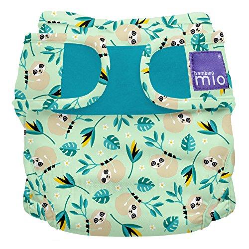 Bambino Mio Miosoft Cloth Diaper Cover, Swinging Sloth, Size 1