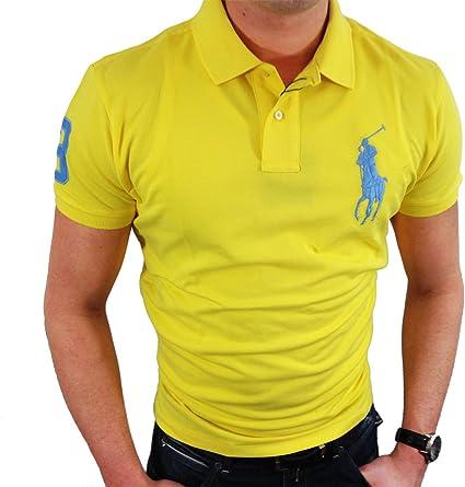 Ralph Lauren - Polo - para hombre amarillo zinc Large: Amazon.es: Ropa y accesorios