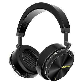 Bluedio T5S Auriculares Bluetooth inalámbricos On-Ear, Inteligente estéreo portátiles, con micrófono para teléfonos y música (Negro): Amazon.es: Electrónica