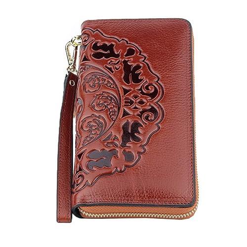 HJLY Leather La Primera Capa De Aceite De Cera Billetera De Cuero Estilo Retro Borlas Simples Bolso De Embrague De Las Mujeres Salvajes: Amazon.es: Zapatos ...