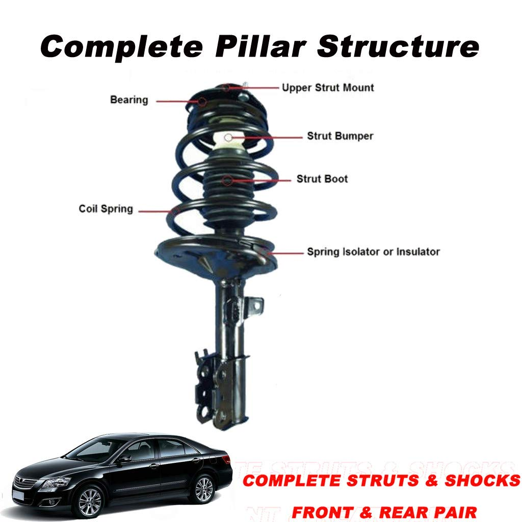 Sonmer Front Driver & Passenger Side Complete Struts & Coil Spring Assemblies Absorber for 1997-2001 Camry-2.2L Only and 1999-2003 Solara-2.2/2.4L Only by Sonmer_Car Kit (Image #5)