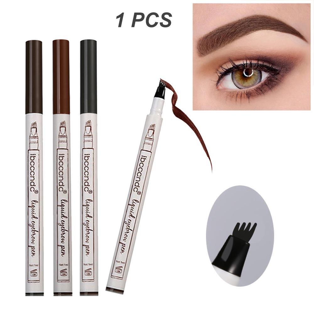 Leegoal Tattoo Eyebrow Pen, Liquid, matita per sopracciglia con quattro punte a lunga durata impermeabile Brow gel e riempire Brow Marker per occhi trucco 1pezzi