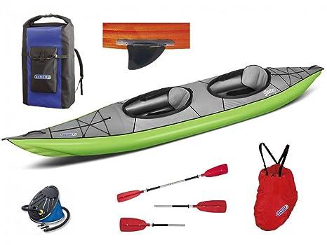 gumotex Swing 2 Verde Juego Kayak hinchable con aleta + remos + ...