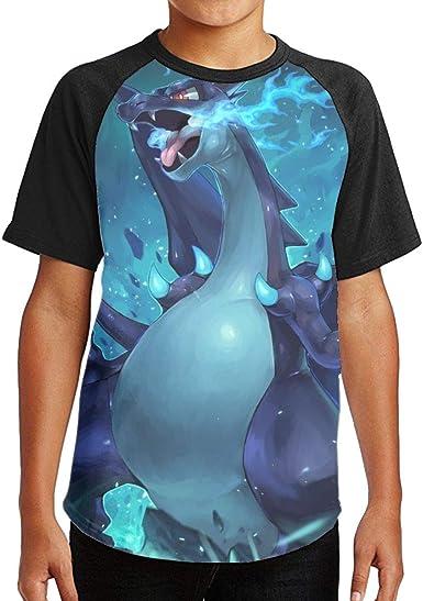 Joess Pocket E-Evolution Unisex 3D Printed Crew Neck Tee Shirt for Children Boys Girls Black
