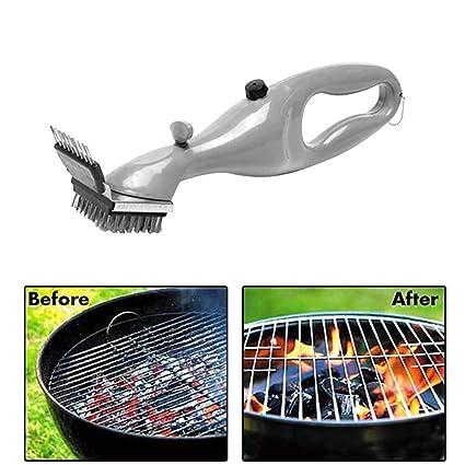 Barbacoa caliente Barbacoa de acero inoxidable Cepillo de limpieza Churrasco Limpiador de parrillas para exteriores con