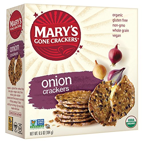 Savory Brie (Mary's Gone Crackers, Onion, 6.5 Ounce Boxes (Pack of 12))