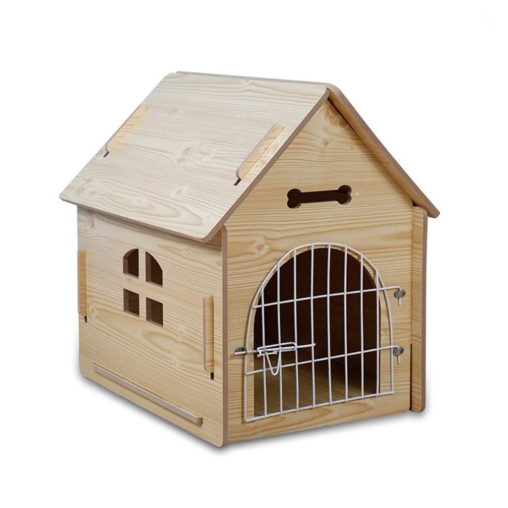 犬小屋 ケージ ペットの家の木製の犬小屋のペットの巣/屋外の庭の純木の犬小屋の猫のくず/屋内犬の家のペットの巣冬暖かい夏 犬小屋 ケージ (Color : A, Size : 37*51*52cm) B07PJ2SP4F 55*77*75cm A A 55*77*75cm