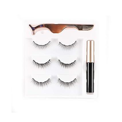 Amazon.com: Juego de delineador de ojos magnético y pestañas ...