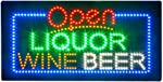 Liquor Beer Wine Sign for Liquor Store, Super Bright Electric Advertising