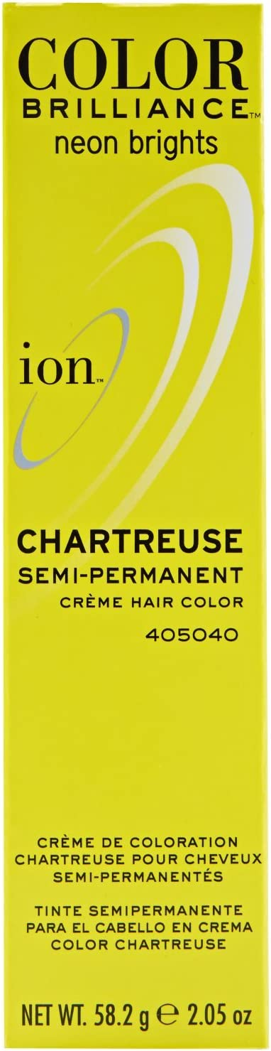 Ion Color Brilliance Semi Permanent Neon Brights Hair Color Chartreuse by Ion