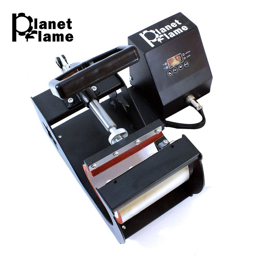 PlanetFlame Industrial-Quality CE 6-11oz Mug Heat Press Machine, Professional Digital Display Sublimation Printing Machine Heat Transfer Presses for Coffee Mug Cup (Black, 11oz)