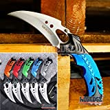 KCCEDGE BEST CUTLERY SOURCE EDC Pocket Knife Camping Accessories Razor Sharp Edge Karambit Folding Knife Camping Gear Survival Kit 56652