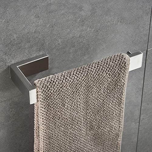 JunSun Towel Ring Stainless Steel Bathroom Towel Holder Towel Ring Hand Towel Holder Brushed Nickel Bathroom Hardware Towel Rings, Brushed Nickel