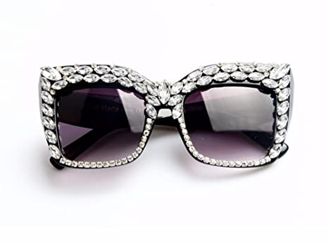 58199263c0e Amazon.com  Women Sunglasses Fashion Bling Rhinestones Vintage Shades  Ladies Oversize Men Sunglasses Brand Designer  Everything Else