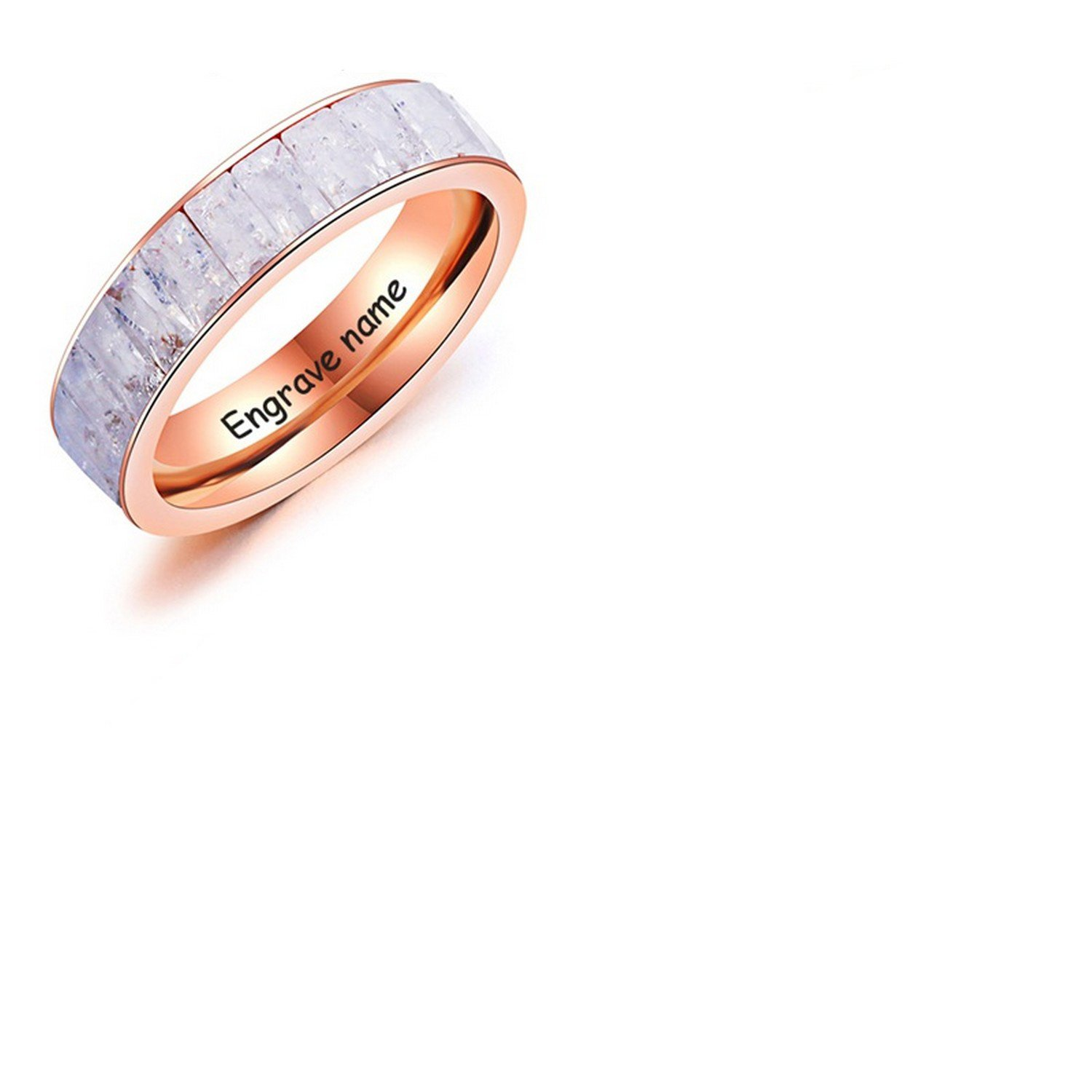 Amazon Com Dudee Engrave Ring Stainless Steel Diy
