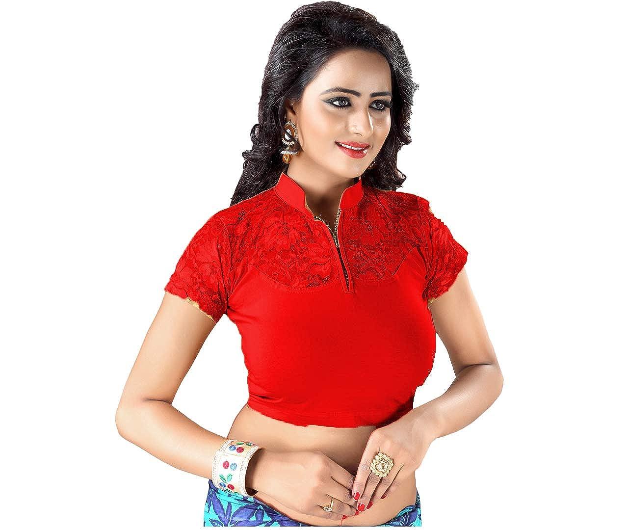 53e91d451b733 GOGURL -You Deserve The Best Cotton Lycra Women s Free Size Readymade Stretchable  Blouse