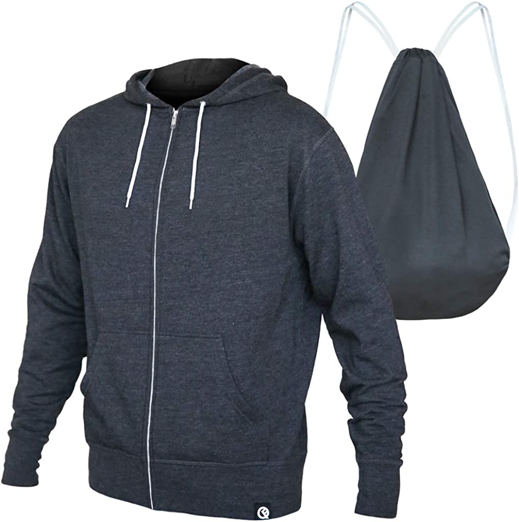 Quikflip 2-in-1 Reversible Backpack Hoodie (As Seen on SHARK TANK) Unisex Full-Zip Hero Hoodie Lite