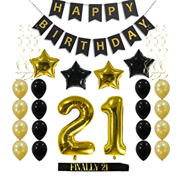 Amazon 21st Birthday Decorations Party Supplies Gift For Her