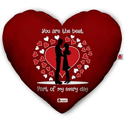 Buy Indigifts Valentine Gifts For Girlfriend Printed Red Heart Shape
