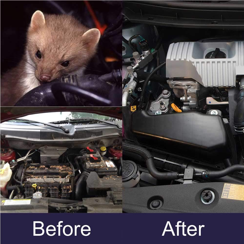 Angveirt Under Hood Animal Repeller Mice Rodent Repellent for Cars Auto  Rodent Repellent Keep Mice Out of Car Wire Protection Rodent Repellent