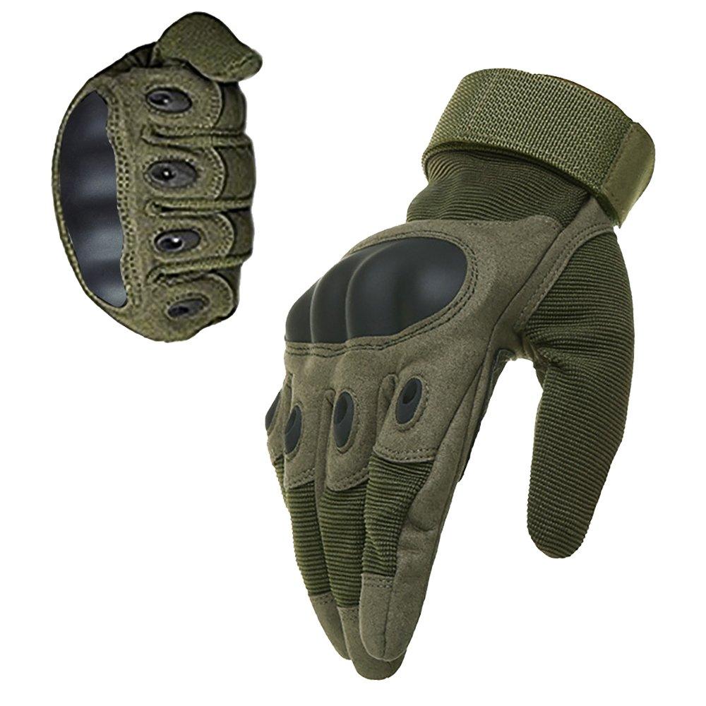 KT-SUPPLY Gants Militaire Gants Protection Gants Armé e Gants Moto Gants Chasse Doigts Complet Pour Adulte Beige Medium