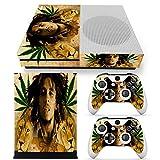 CSBC Skins Xbox One S Design Foils Faceplate Set - Bob Marley Design