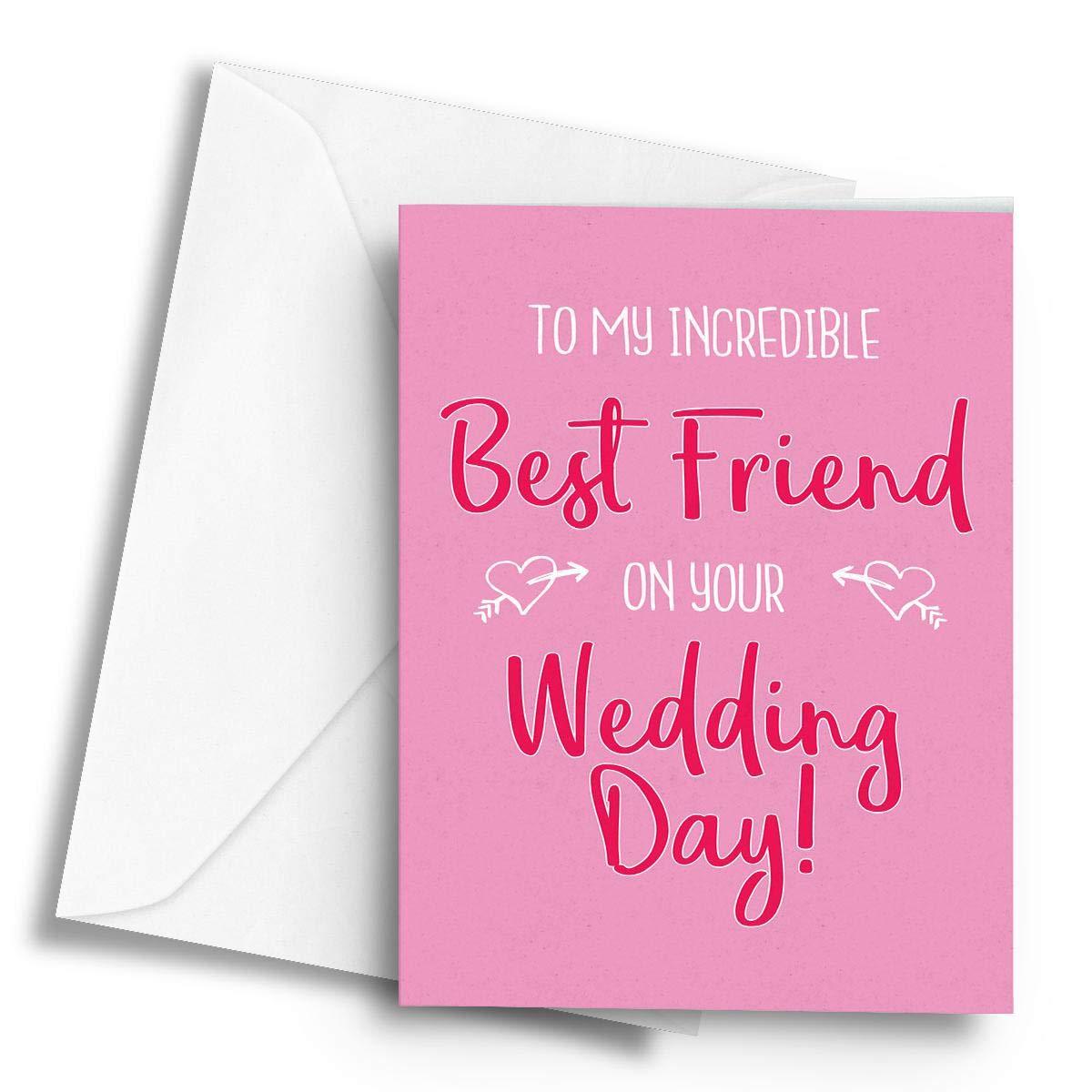 Lilac Personalised Luxury Wedding Day Card /& Box A5