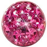 Cristal bola del brillo (rosa)
