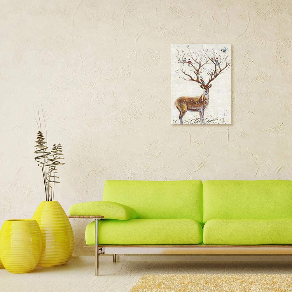 Amazon.com: Mikolot Painting on Canvas,Cartoon Animal Elk ...