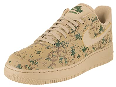 super popular b7400 e0883 Nike Mens Air Force 1  07 Low Camo Shoes Team Gold Golden Beige 823511