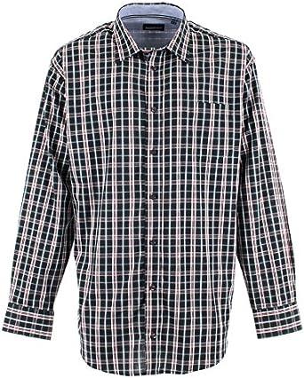 Camisa de cuadros negra/roja – Allsize Tamaño Grande hombre ...