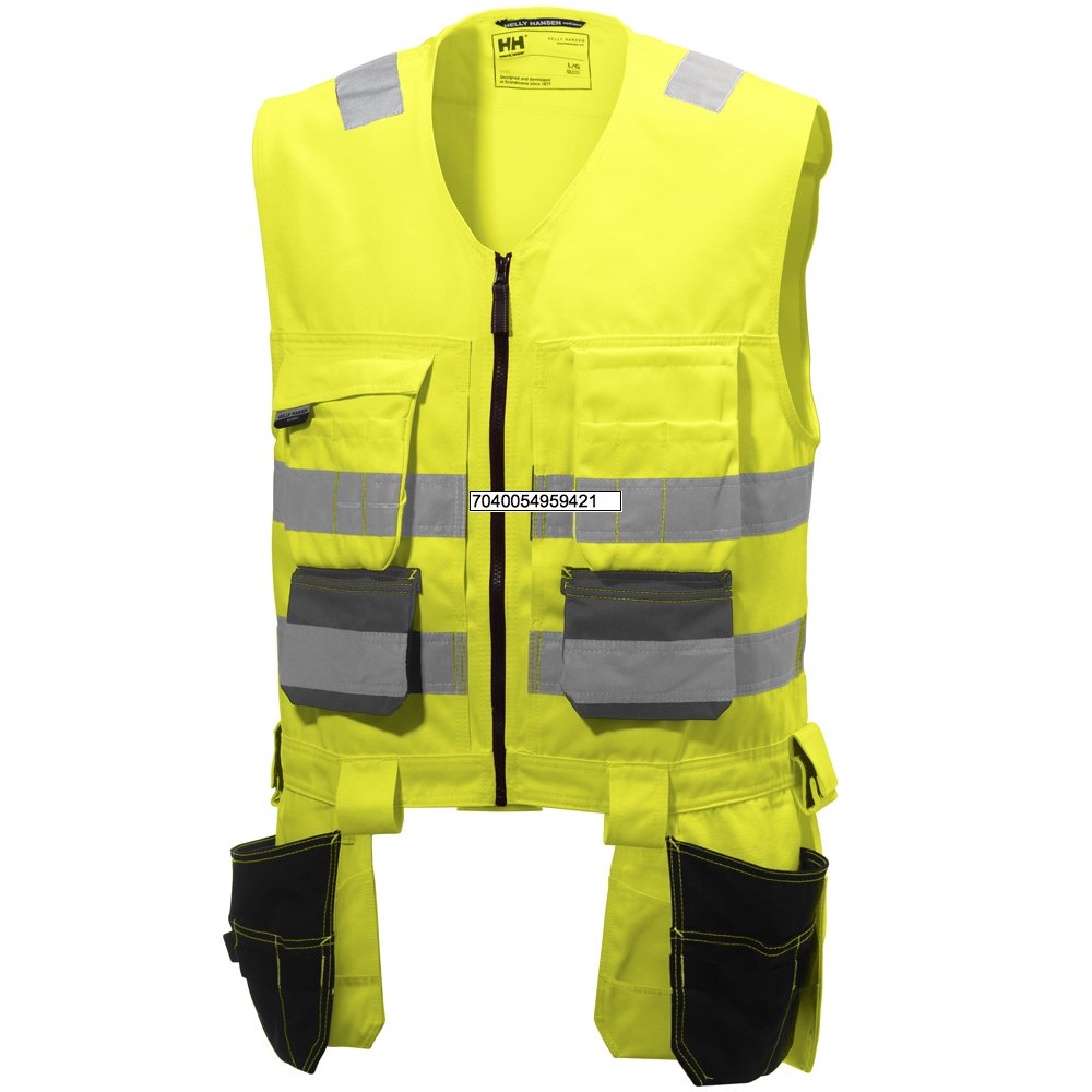 Helly Hansen 77110_369-4XL Alna Hi-Vis Vest, 4X-Large, Yellow/Charcoal