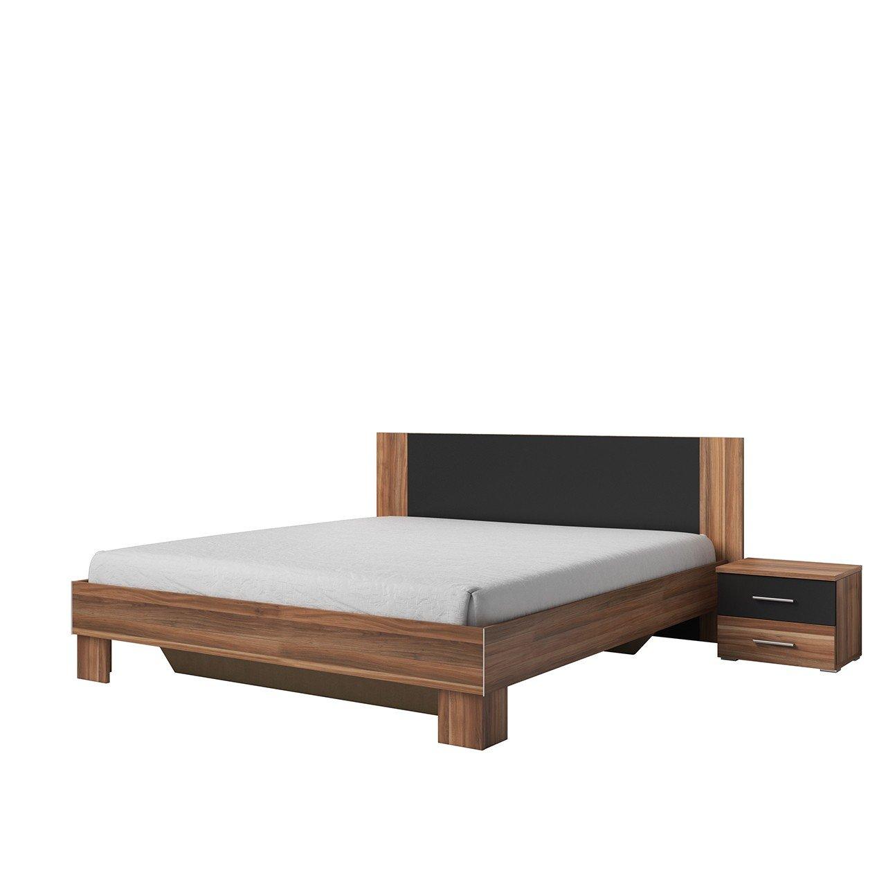 Mirjan24 Doppelbett Vera mit Zwei Nachttische, Elegante Bett für ...