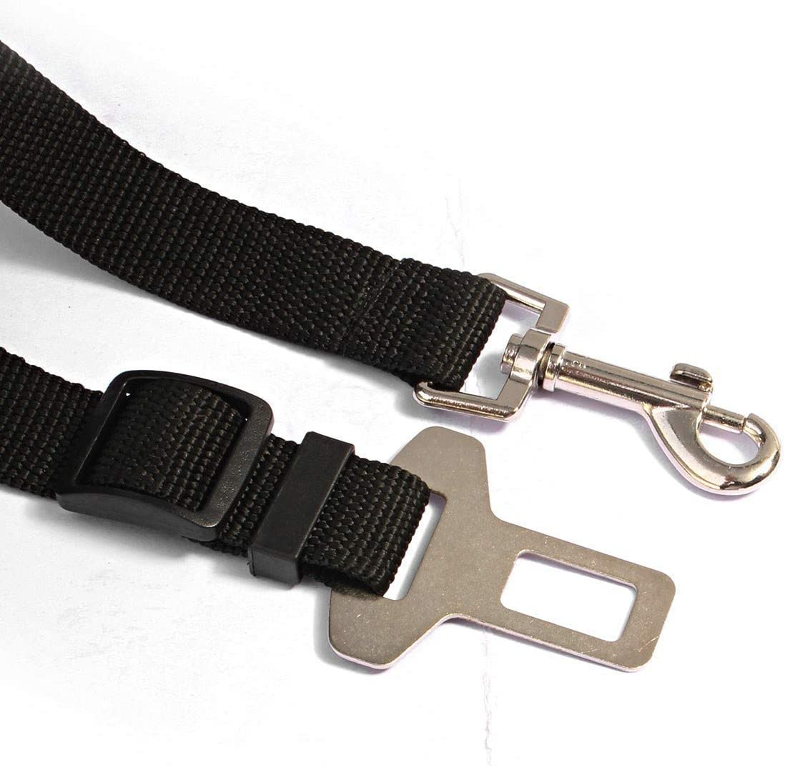 Black Car Compatible Dog Seat Belt The Essentials Line 2x Pack