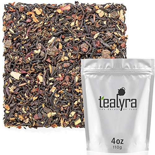 Tealyra - Pu erh Ginger Treasure - 5 Years Aged Pu-erh Blended with Ginger and Hibiscus - Great Spicy Taste and Aroma - Loose Leaf Tea - Unique Blend - All Natural Ingredients - 100g (3.5-ounce)