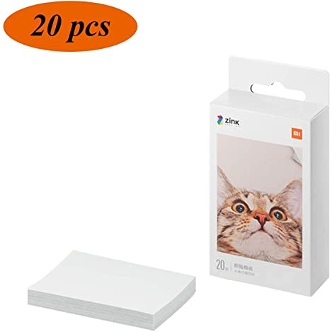Papel fotográfico Adhesivo para xiaomi Impresora fotográfica,20 ...