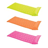"Intex Tote-N-Float Wave Inflatable Air Mat, 90"" X 34"", (Colors May Vary), 1 Pack"