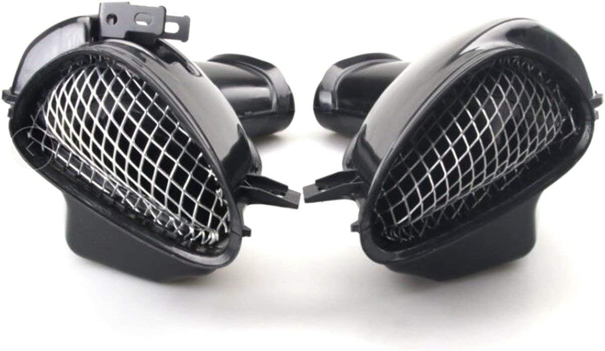 noir JIUY Une paire de moto Ram Air Intake Tube de gaine Tuyau pour Suzuki GSXR 600 750 1000 00-03 K1 plastique ABS remplacement Moto
