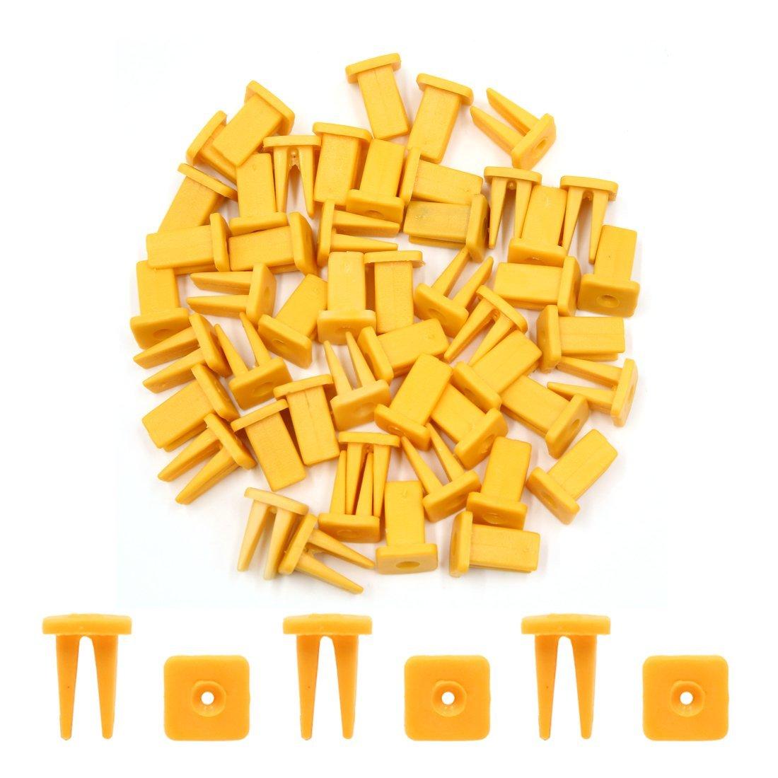 Amazon.com: eDealMax 50Pcs amarillas de plástico Remaches pegatina Fender Fastener Retenedores DE 9 mm Para el coche auto: Automotive