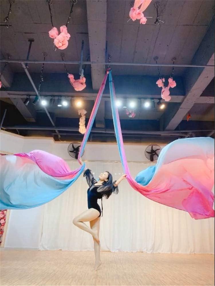 WDMSN Hamac Yoga Aerien Exterieur Silks Kit Fly dans Sports Suspendu Acrobatie Arts de Cirque Danse A/érienne 5x2,8m Trapeze Stand Frame Elastique Accessoires Montage Inclus,Redandyellowgradient