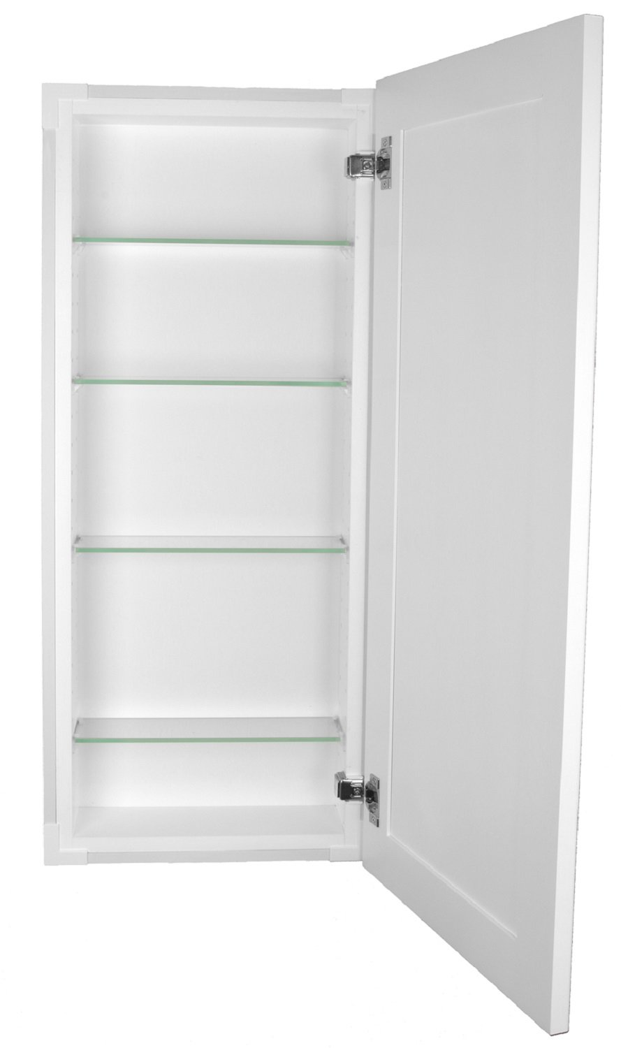 Awe Inspiring Wg Wood Products Fr 234 White Shaker Style Frameless Recessed In Wall Bathroom Medicine Storage Cabinet Multiple Finishes 14 X 34 White Beutiful Home Inspiration Xortanetmahrainfo