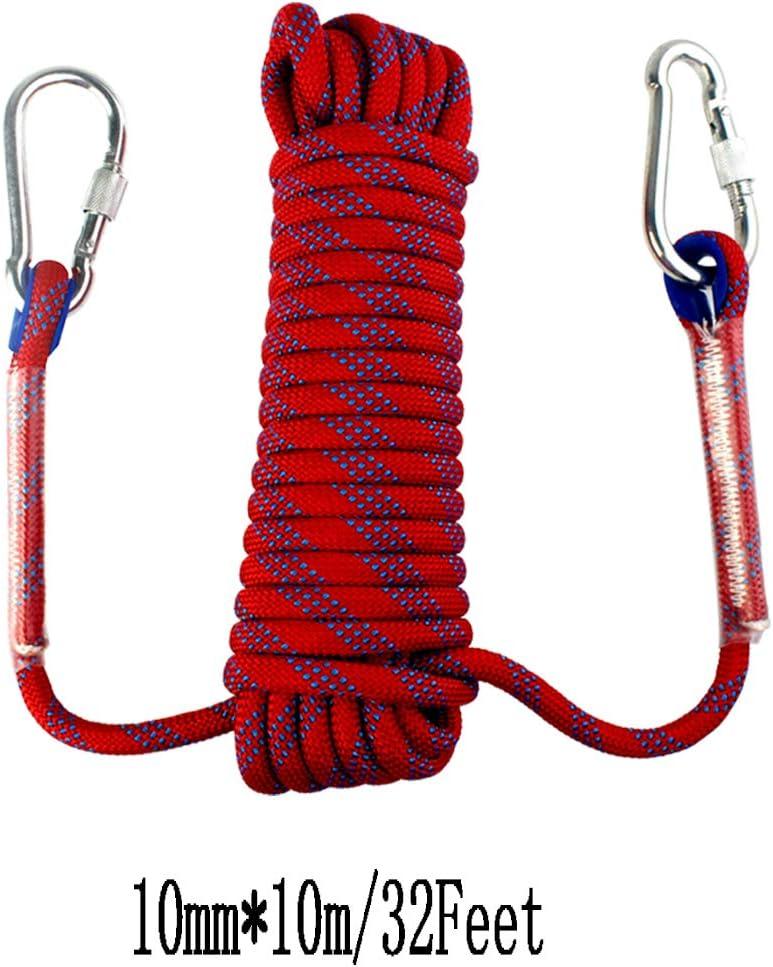 Yolyoo - Cuerda de escalada estática para exteriores, accesorio de alta resistencia, cuerda de seguridad de escape de incendios de 32 pies