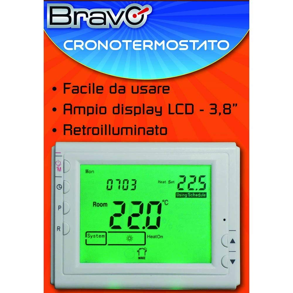 blanco BRAVO 809031242276 Cronotermostato semanal digital-93003100